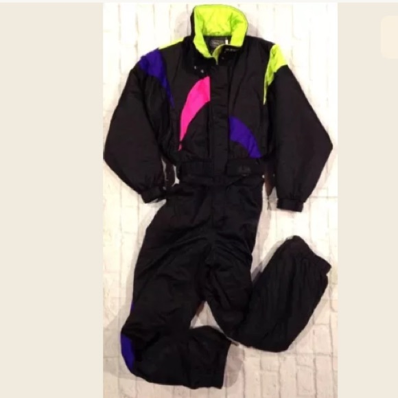 dcc7b83346 CB SPORTS Jackets   Blazers - VTG 90 S CB SPORTS NEON ONE PIECE SKI SUIT L